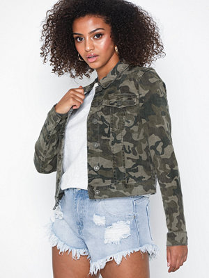 Noisy May Nmdebra L/S Aop Camo Denim Jacket 3