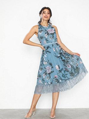 Little Mistress Midi Lace Trim Dress