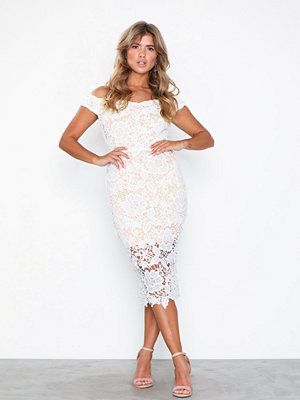 Missguided Bardot Lace Midi Dress