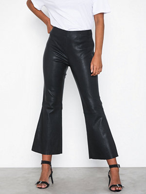 Five Units svarta byxor Laya 634 Crop Stretch Leather