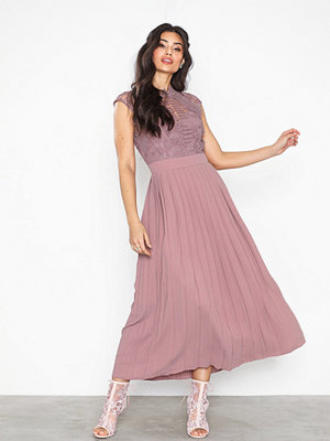 Little Mistress Midaxi Corchet Pleat Dress