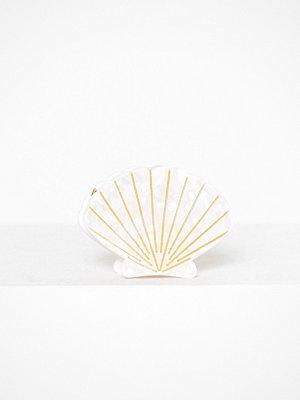 Pieces smycke Pcbella Seashell Hairclip Beach Vit