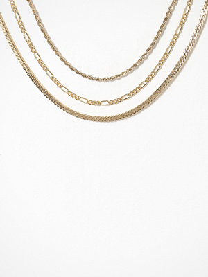 Freedom by Topshop smycke Chunky Chain Anklet Multipack