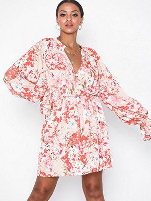 Missguided Chiffon Floral Frill Dress