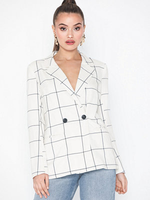 Only onlROSARIA Check L/S Blazer Tlr