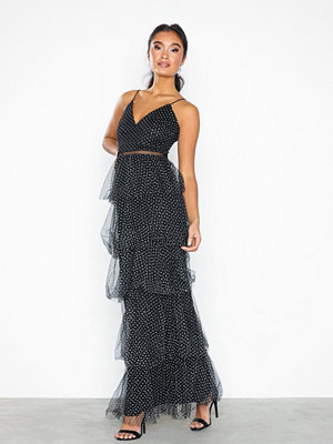 U Collection Maxi Frill Plissé Dress