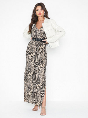 River Island Sl Waisted Plisse Maxi Dress