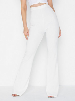 Missguided byxor Ribbed Flared Trouser