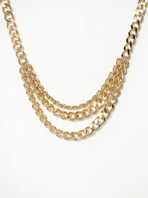 Freedom by Topshop halsband Chain Row Necklace