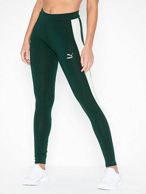 Sportkläder - Puma Classics Logo T7 Legging Mörk Grön