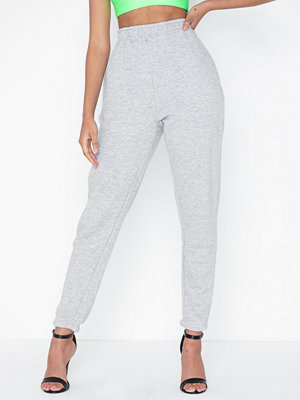 Missguided vita byxor Basic Joggers