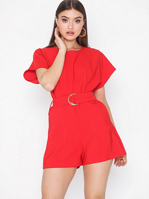 Closet Short Sleeve Belted Playsuit