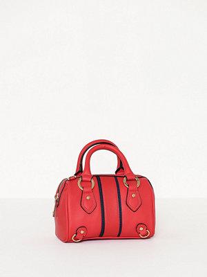 Topshop röd axelväska Stripe Mini Bowler Bag