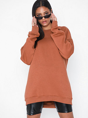 Tröjor - Missguided Oversized Brushback Sweat