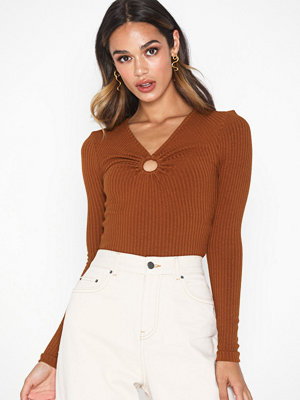 Topshop Hoop Long Sleeve Top