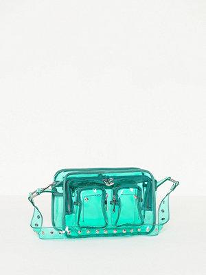 NuNoo grön axelväska Ellie Transparent