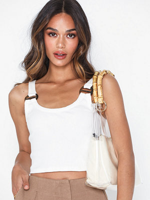 Topshop Buckle Ribbed Crop Cami
