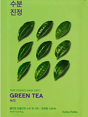 Ansikte - Holika Holika 5-Pack Pure Essence Sheet Mask Green Tea