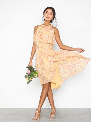 NLY Eve Frill Neck Midi Dress