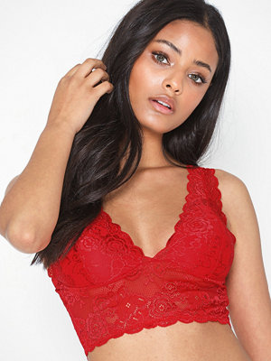 Only onlCHLOE Col Lace Bra Acc High Risk Red