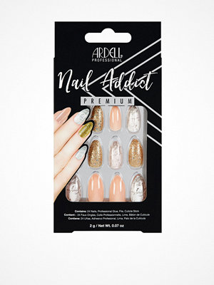 Naglar - Ardell Nail Addict Rosa/Guld