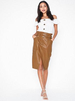 River Island PU Midi Skirt
