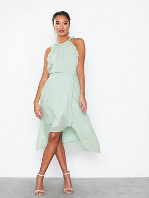 NLY Eve Frill Neck Midi Dress