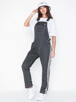 Adidas Originals mörkgrå byxor Dungarees