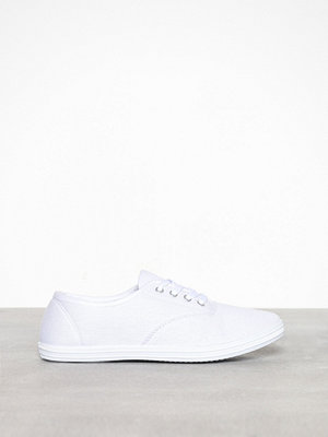 Duffy Basic Canvas Sneaker Vit