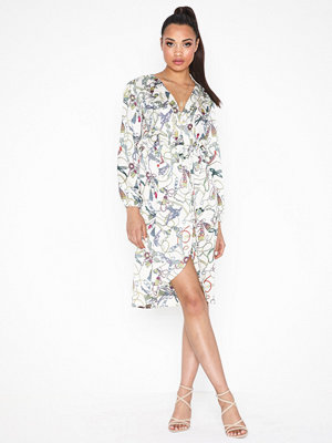Ax Paris Long Sleeve Printed Dress