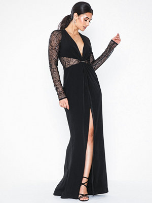 Topshop Lace Panel Maxi Dress