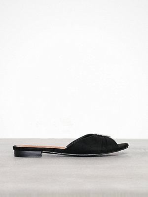 Sandaler & sandaletter - Duffy Faux Suede Slip-In Sandal Svart