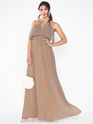 Rare London Strap Pleated Maxi Dress
