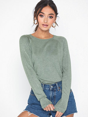 Only onlMILA Lacy L/S Pullover Knt Noos Grön