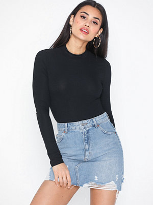 Topshop Ripped Denim Mini Skirt