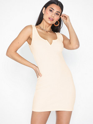 Topshop Waffle Notch Bodycon Dress
