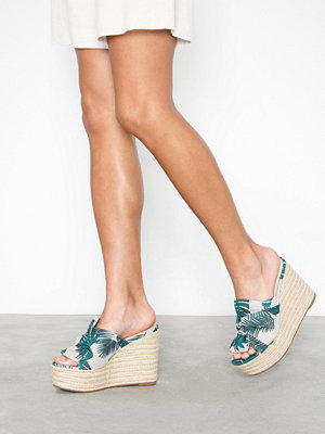NLY Shoes Printed Bow Wedge Sandal