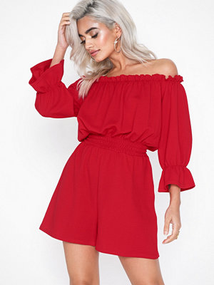 NLY Trend Frill Off Shoulder Playsuit