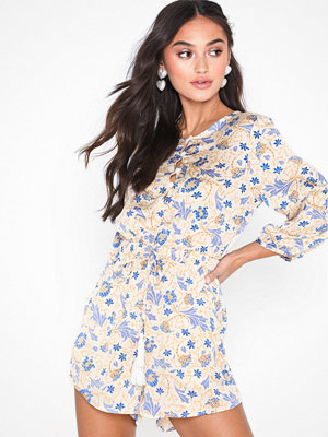 Glamorous Long Sleeve Floral Playsuit