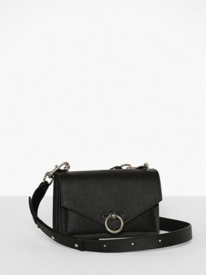 Rebecca Minkoff svart axelväska Jean Md Shoulder Bag Caviar
