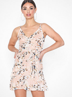 Parisian Floral Frill Hem Belted Cami Dress