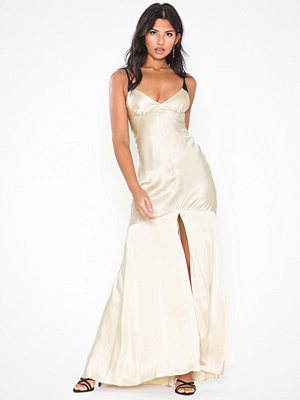 Topshop Lace Insert Satin Maxi Dress