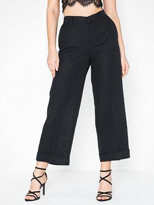 Lauren Ralph Lauren svarta byxor Larabeth-Wide Leg-Pant