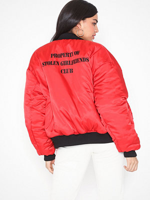 Stolen Girlfriends Club röd bomberjacka Stolen Bomber Jacket