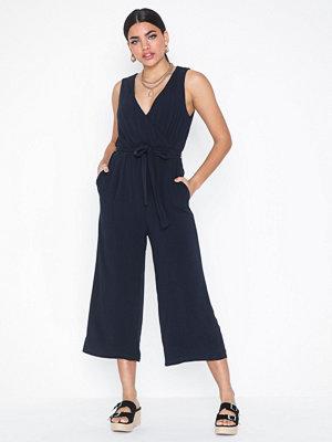 Jumpsuits & playsuits - Object Collectors Item Objbay S/L Jumpsuit Noos Mörk Blå