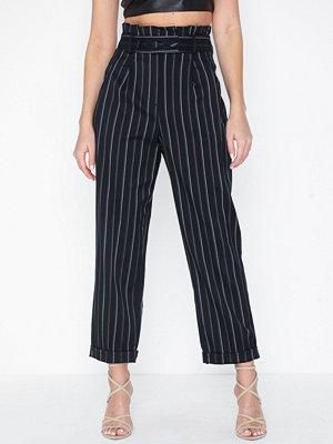 Topshop svarta randiga byxor Stripe Paperbag Trousers