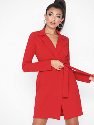 Missguided Long Sleeve Belted Blazer Dress