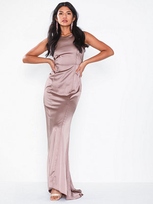 Missguided Bridesmaids Satin Backless Ma