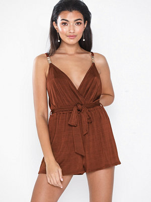 River Island Jersey Plunge Playsuit
