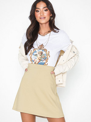 NLY Trend My Perfect A Line Skirt Beige